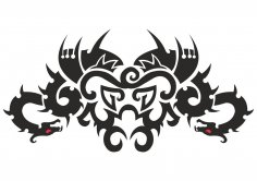 Car Hood Decal Dragon Animal Murals Predator Tribal Tattoo Vector CDR File