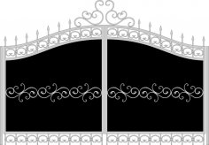 Forged gates sketch vector Free Vector