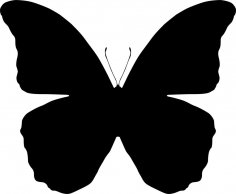 Butterfly Silhouette Vector Art Ai File