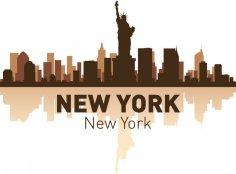 New York Skyline Vector Art CDR File