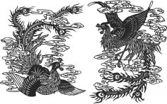 Ancient chinese phoenix Free Vector