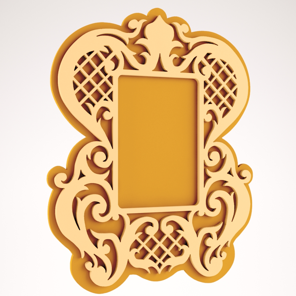 Decorative Mirror Frame DXF File