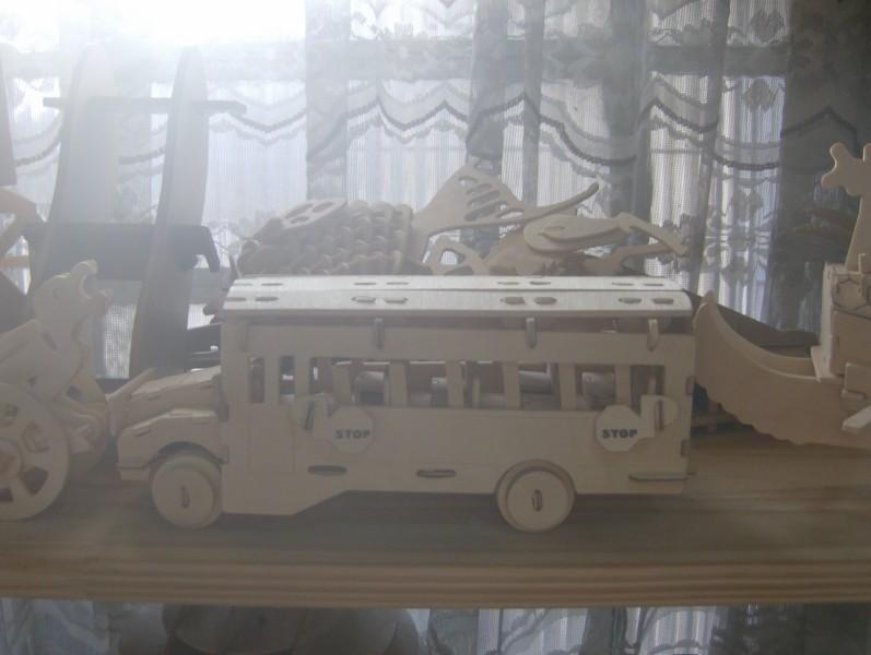School Bus Model Flat dxf File