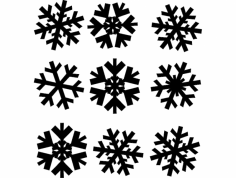 Snowflakes Snezhinki dxf File