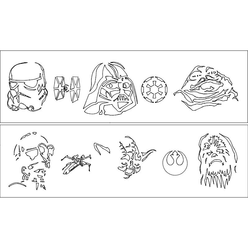 Star Wars 1 2 dxf File