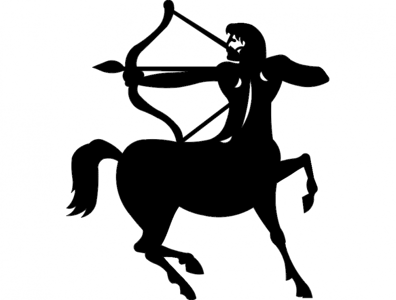 знак стрелец (Sagittarius sign) dxf File