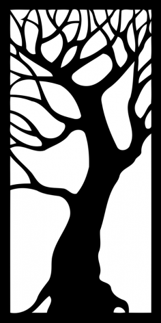 Tree Decorative Panel dxf File