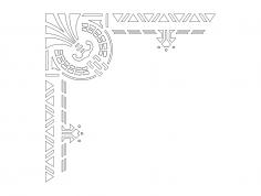 ecke-3 Corner Design dxf File