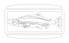 27 inch salmonw.slots Sconce dxf File