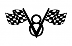 v8 Flags dxf File