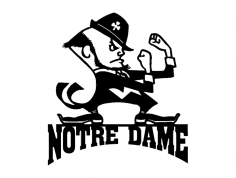 Notre Dame With Man dxf File