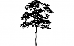 Tree Silhouette dxf File