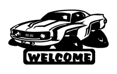 69 Camaro Fun Welcome dxf File