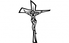 Jesus Cross Modern dxf File
