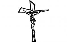 Jesus Cross Modern dxf File