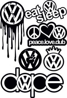 VW Logo Vector CDR File