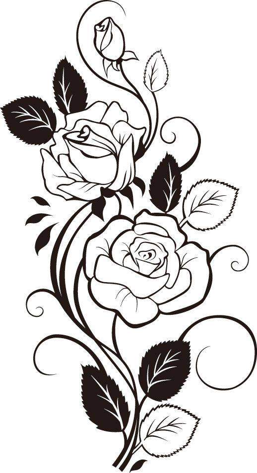 Black And White Flowers Shape Pattern Vector Art jpg Image