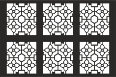 Decorative Grille Pattern Free Vector