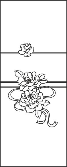 Wardrobe Door with Floral Design CDR File
