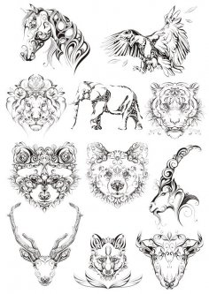 Original Animals Vectors Free Vector