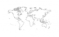 World Map dxf file