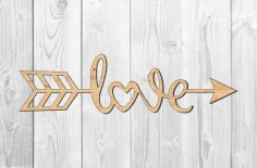 Laser Cut Love Topper Template Free Vector