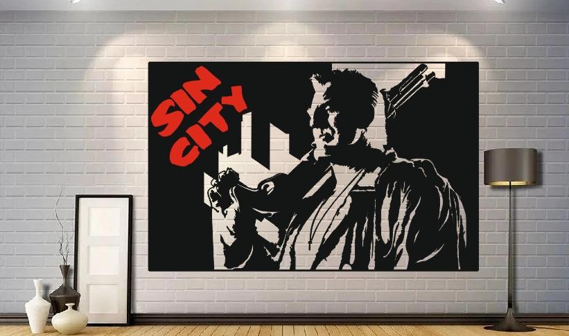 Sin City Poster Wall Decor Free Vector