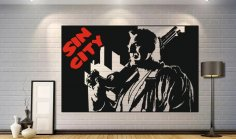 Sin City Poster Wall Decor Free Vector