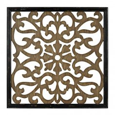 Laser Cut Decorative Screen Pattern SVG File