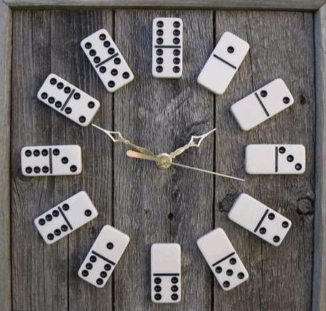 Laser Cut DIY Domino Clock Free Vector