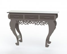 Table With Drawers DXF File