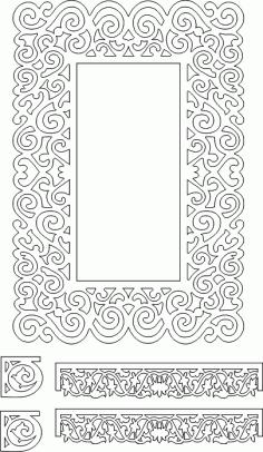 axi̇s geni̇ş Kiyili di̇kdörtgen Ayna DWG File