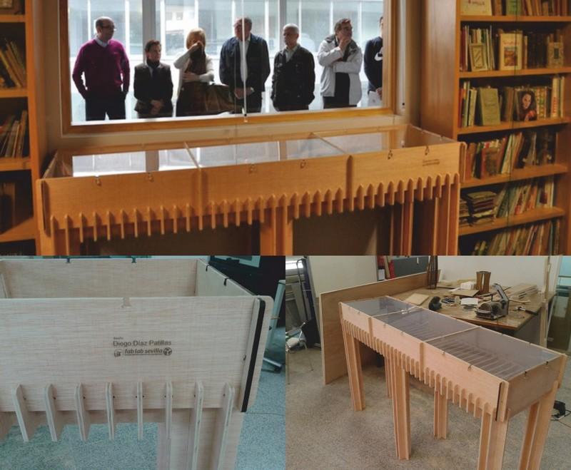 Museum Showcase Table Laser Cut CNC Router DXF File