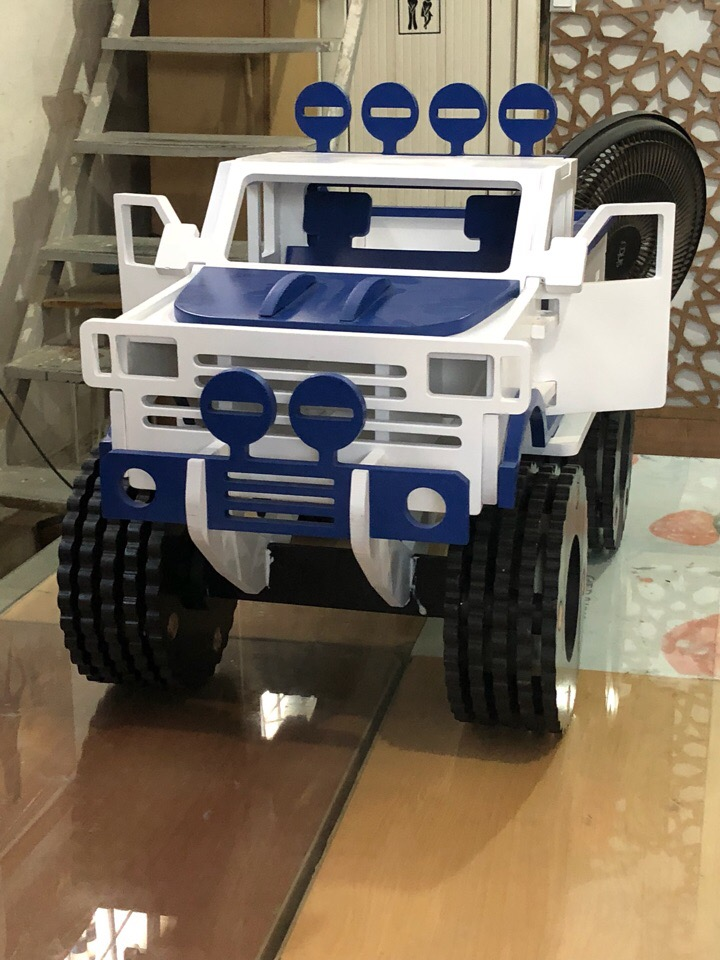 Laser Cut Monster Truck Toy DXF File