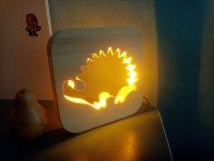 Laser Cut Hedgehog Night Light CNC Router Plans Free Vector