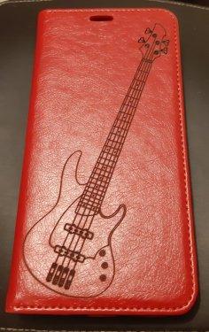 Laser Engraving Bass Guitar SVG File