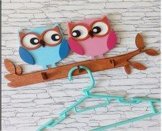 Laser Cut Owl Wall Hanger Free Vector