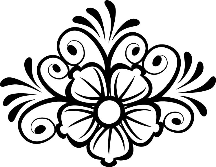 Decor Flower Vector Free Vector