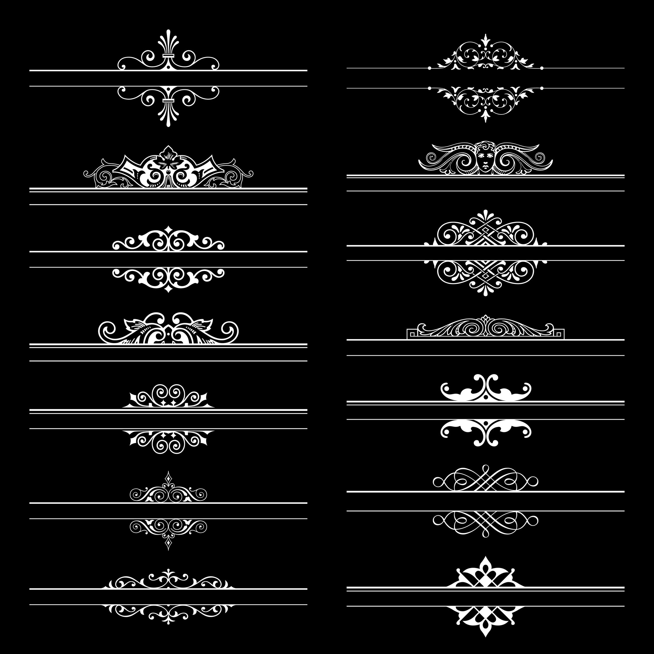 Large Collection Of Ornate Headpieces Free Vector