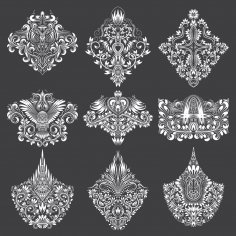 Design Ornamental Elements Free Vector