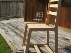 Wooden Chair DXF File