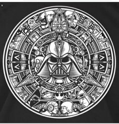 Star Wars Aztec Calendar DXF File