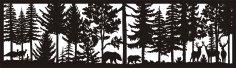 28 X 96 Turkeys Bears Two Bucks One doe Plasma Art DXF File