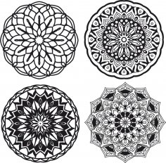 Mandalas Set Free Vector
