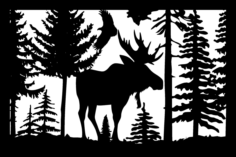 24 X 36 Moose Eagle Plasma Art DXF File