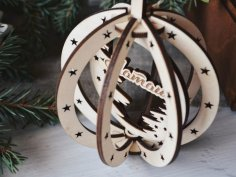 Laser Cut Birch Pendant Christmas Tree Hanging Wooden Decorations Free Vector