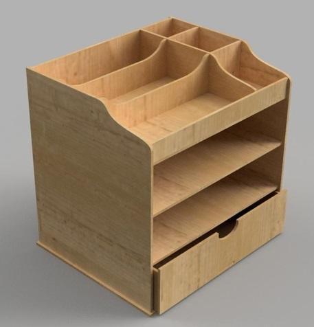 Laser Cut Wood Drawer Storage Organizer Template Free Vector