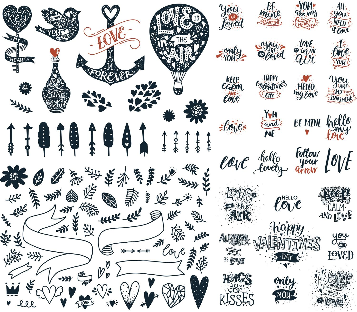 Valentines Day Vector Pack Free Vector