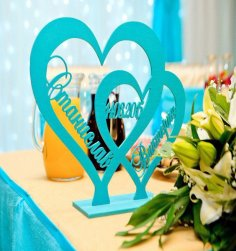 Laser Cut Heart on Stand DXF File