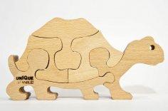 Tortoise Turtle Jigsaw Puzzle Laser CNC Cut Plans DWG File